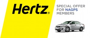 The NAGPS is proud to offer a discount code to members. Use code 2016361 to receive a discount at Hertz or click the button below to reserve online.